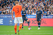 Antoine Griezmann (FRA), Kylian Mbappe (FRA), Matthijs De Ligt (NDL) for free kick during the UEFA Nations League, League A, Group 1 football match between France and Netherlands on September 9, 2018 at Stade de France stadium in Saint-Denis near Paris, France - Photo Stephane Allaman / ProSportsImages / DPPI