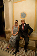 DR. CORINNE FLICK; GERT RUDOLPH FLICK, Christie's Gala. Casa Austria.  Amadeus Weekend. Salzburg. 22 August 2008.  *** Local Caption *** -DO NOT ARCHIVE-© Copyright Photograph by Dafydd Jones. 248 Clapham Rd. London SW9 0PZ. Tel 0207 820 0771. www.dafjones.com.