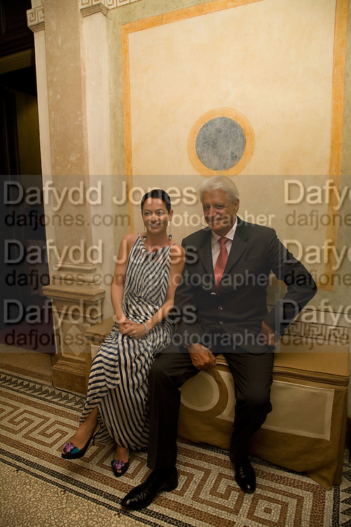DR. CORINNE FLICK; GERT RUDOLPH FLICK, Christie's Gala. Casa Austria.  Amadeus Weekend. Salzburg. 22 August 2008.  *** Local Caption *** -DO NOT ARCHIVE-© Copyright Photograph by Dafydd Jones. 248 Clapham Rd. London SW9 0PZ. Tel 0207 820 0771. www.dafjones.com.