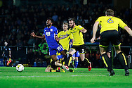 Birmingham's Jacques Maghoma (19) is fouled  during the EFL Sky Bet Championship match between Burton Albion and Birmingham City at the Pirelli Stadium, Burton upon Trent, England on 21 October 2016. Photo by Richard Holmes.