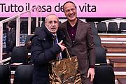 DESCRIZIONE : Trento Beko All Star Game 2016<br /> GIOCATORE : Federico Mangiacotti Dan Peterson<br /> CATEGORIA : Before Pregame<br /> EVENTO : Beko All Star Game 2016<br /> GARA : Beko All Star Game 2016<br /> DATA : 10/01/2016<br /> SPORT : Pallacanestro <br /> AUTORE : Agenzia Ciamillo-Castoria/Max.Ceretti