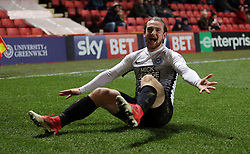 Jack Marriott of Peterborough United celebrates scoring his goal - Mandatory by-line: Joe Dent/JMP - 28/11/2017 - FOOTBALL - The Valley - Charlton, London, England - Charlton Athletic v Peterborough United - Sky Bet League One