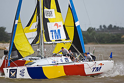 2008 Monsoon Cup. Sebastien Col and Torvar Mirsky have a major collision during the pre start  (Saturday the 6th December 2008). .
