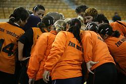 Team Brezice at  handball game between women team RK Olimpija vs ZRK Brezice at 1st round of National Championship, on September 13, 2008, in Arena Tivoli, Ljubljana, Slovenija. Olimpija won 41:17. (Photo by Vid Ponikvar / Sportal Images)