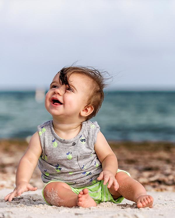 Lucas enjoying his explorative time on Sombrero Beach in Marathon, FL.