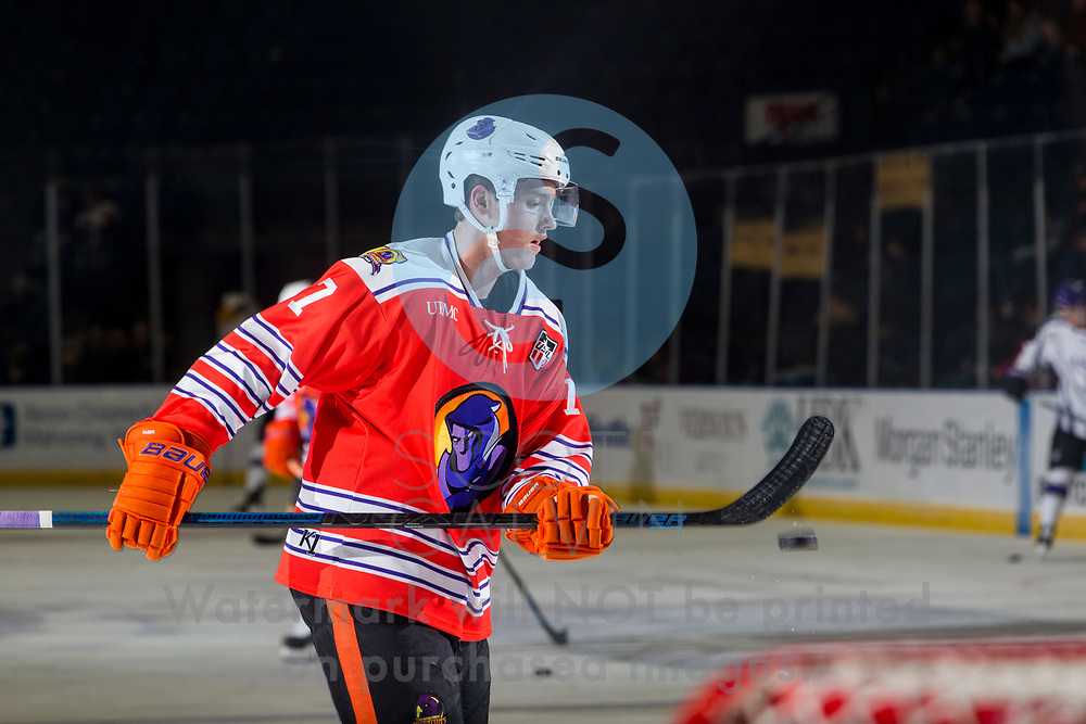 Youngstown Phantoms lose 4-1 to the Tri-City Storm at the Covelli Centre on January 17, 2020.<br /> <br /> Linden Alger, defenseman, 7