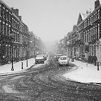Heavy snow fall in Liverpool