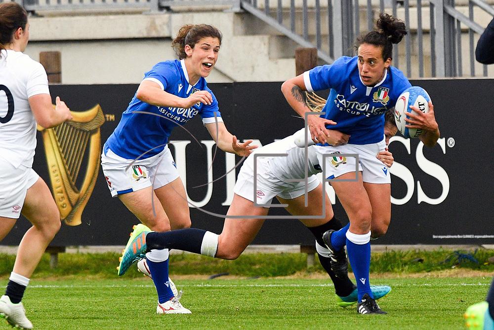 Parma 10/04/2021 Stadio Sergio Lanfranchi<br /> Sei Nazioni femminile 2021<br /> Italia vs Inghilterra <br /> <br /> Manuela Furlan