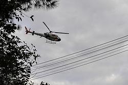August 1, 2017 - Corpo de bombeiros e Águia são chamados para resgatar um vítima de choque elétrico em uma empresa na Rua do Cortume, no bairro Lapa em São Paulo, nesta terça-feira  (Credit Image: © Victoria Silva/Fotoarena via ZUMA Press)