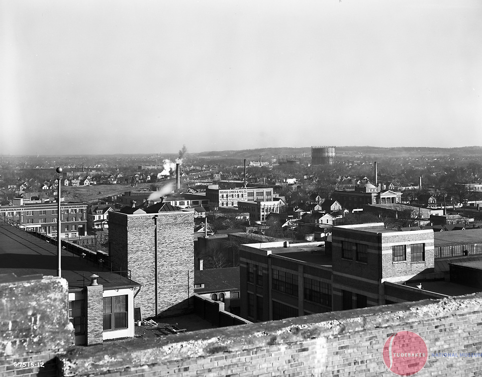 This 1941 image looks southeast from Studebaker building 84.