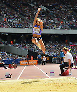 GBR long jumper Jazmin Sawyers during the Sainsbury's Anniversary Games at the Queen Elizabeth II Olympic Park, London, United Kingdom on 25 July 2015. Photo by Mark Davies.