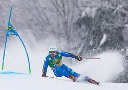 Riccardo Tonetti of Italy during 1st run of Men's Giant Slalom race of FIS Alpine Ski World Cup 57th Vitranc Cup 2018, on 3.3.2018 in Podkoren, Kranjska gora, Slovenia. Photo by Urban Meglič / Sportida