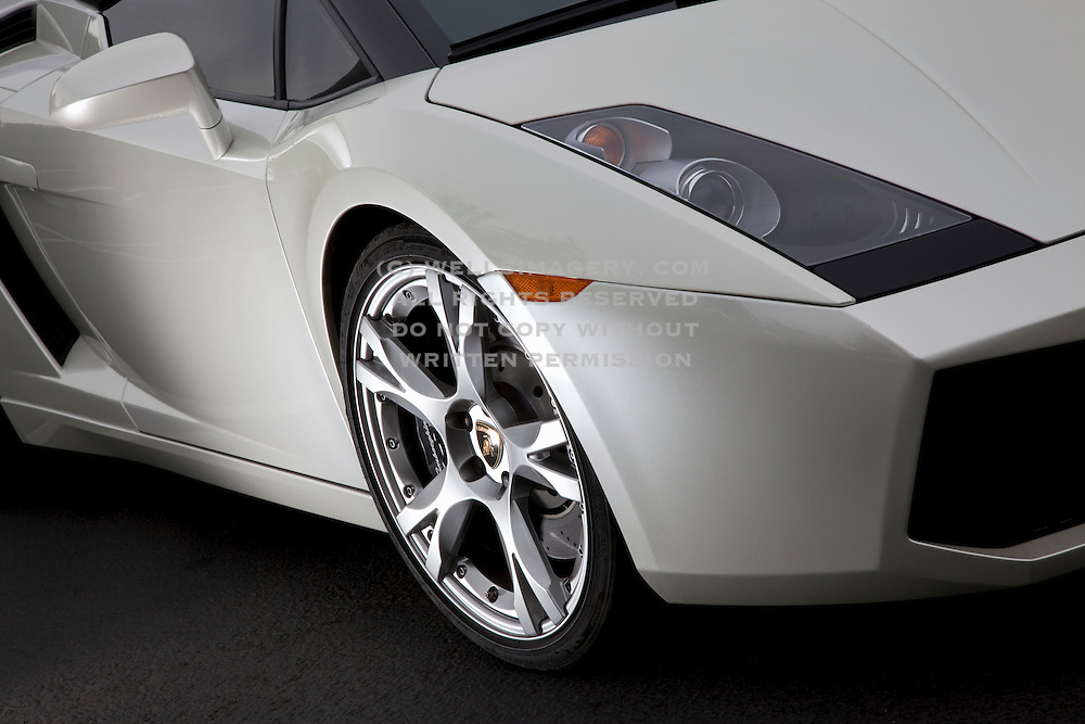 Image of a white Lamborghini sports car detail, Pacific Northwest by Randy Wells