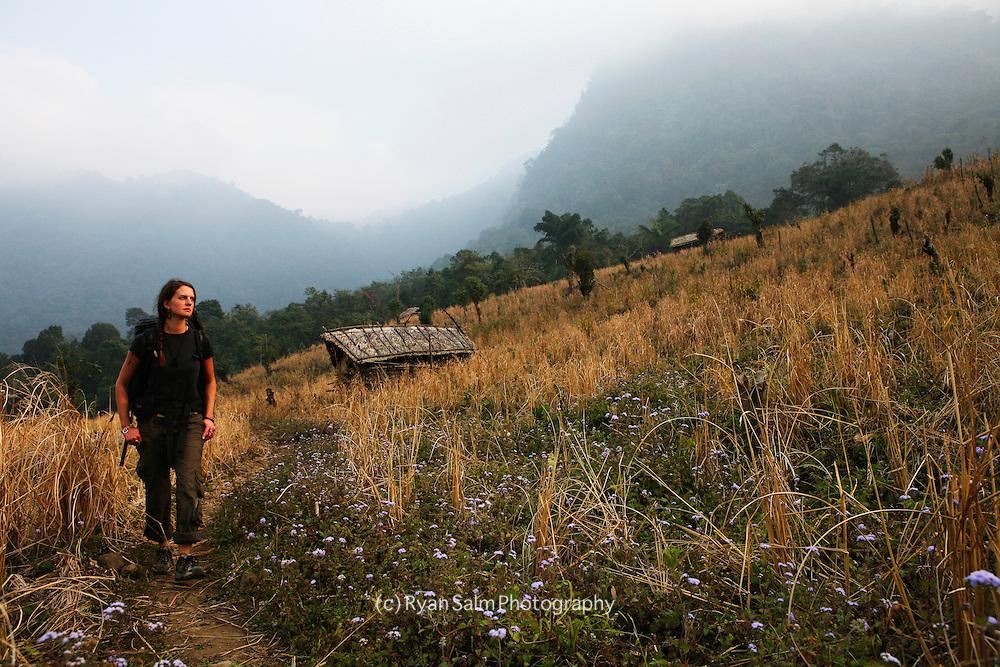 The trail to Nyatnu Village