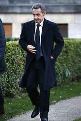 File photo - Nicolas Sarkozy attending the Andre Glucksmann funeral at Pere Lachaise crematorium cemetery in Paris, France on November 13, 2015. A French judge has ordered ex-President Nicolas Sarkozy to stand trial in an illegal campaign finance case. Mr Sarkozy faces accusations that his party falsified accounts in order to hide 18m euros of campaign spending in 2012. Mr Sarkozy denies he was aware of the overspending, and will appeal against the order to stand trial. Photo by ABACAPRESS.COM