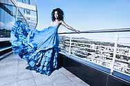 Model and Actress Bria Murphy (daughter of actor comedian Eddie Murphy, former model Nicole Mitchell Murphy). Editorial Fashion at the Loews Hotel Hollywood Los Angeles California. Makeup Hair Maureen Burke. Publicist Teal Entertainment. PIM18. Copyright Amyn Nasser. All Rights Reserved.