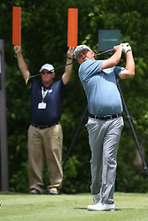 May 25, 2019 - Fort Worth, TX, U.S. - FORT WORTH, TX - MAY 25: Jason Dufner hits from the 6th tee during the third round of the Charles Schwab Challenge on May 25, 2019 at Colonial Country Club in Fort Worth, TX. (Photo by George Walker/Icon Sportswire) (Credit Image: © George Walker/Icon SMI via ZUMA Press)
