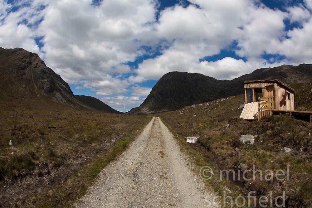 Eagle watch on the Isle of Harris, the Western Isles, Scotland. .©Michael Schofield..