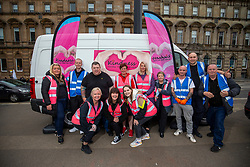 24JUL20 Laura McSorley of the homeless charity Kindness, with the team of volunteers helping the homeless in George Square.