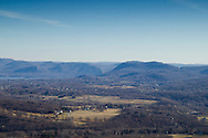 Cornwall, New York - A view looking east from Schunnemunk Mountain on Jan. 1, 2015. The Hudson River is visible in the distance at left.