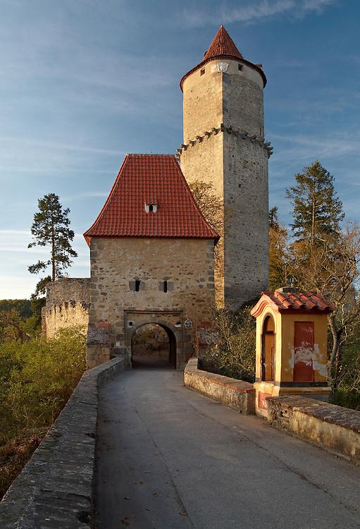 Zvikov castle at sunset