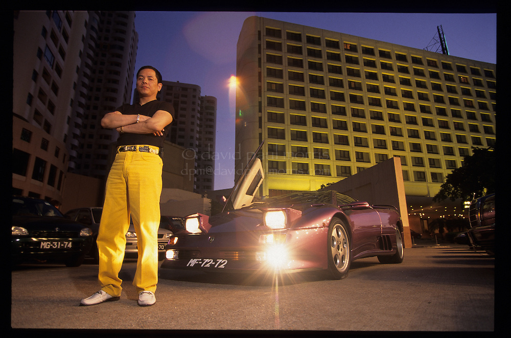 MACAU, CHINA - MAY 13:  Macau triad boss Wan Kuok-koi also known as 'Broken Tooth' is seen on the streets and in his home in Macau, China, April 1998. (Photo by David Paul Morris)