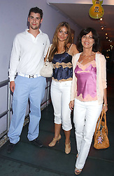 Left to right, THEO OSBORNE, SASKIA BOXFORD and her mother PILAR BOXFORD at a polo players party hosted by AJM International Publishing and Cartier celebrating the 21st anniversary of the Cartier International Polo held at The Collection, London SW3 on 19th July 2005.<br /><br />NON EXCLUSIVE - WORLD RIGHTS