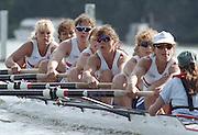 "Henley on Thames. Henley. GREAT BRITAIN;  GBR W8+ Nautilus, Cox, Suzie ELLIS, Alison GILL, Joanne TURVEY, Cath BISHOP, Miriam BATTEN, Kate POLLITT, Dot BLACKIE, Lisa EYRE and Annmarie PHELPS [nee STAPLETON]  <br /> <br /> 1995 Women's Henley Regatta. Henley Reach. River Thames.<br /> <br /> [Mandatory Credit; ""Photo, Peter Spurrier/Intersport-images]"