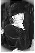LILY JOHNSTON, book party. Leighton House. London. 1983. SUPPLIED FOR ONE-TIME USE ONLY> DO NOT ARCHIVE. © Copyright Photograph by Dafydd Jones 248 Clapham Rd.  London SW90PZ Tel 020 7820 0771 www.dafjones.com