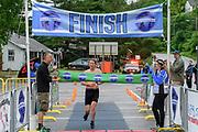 Michael Vance wins the male division of the 2018 Hague Endurance Festival Sprint Triathlon