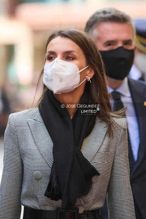 Queen Letizia of Spain visit Casa d'Areny-Plandolit during 2 day State visit to Principality of Andorra on March 26, 2021 in Ordino, Principality of Andorra