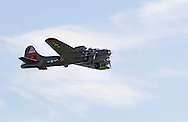 Montgomery, N.Y. - A B-17 Flying Fortress bomber takes off from Orange County Airport on  Sept. 29, 2006. The World War II plane was at the airport as part of the Winds of Freedom Tour.