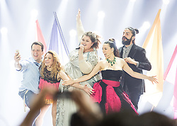 22.05.2015, Stadthalle, Wien, AUT, Eurovision Songcontest Vienna 2015, Kostümprobe für das Große Finale, im Bild Bojana Stamenov aus Serbien // Bojana Stamenov from Serbia during dress rehearsal of the grand final for Eurivision Songcontest Vienna 2015 at Stadthalle in Vienna, Austria on 2015/05/22, EXPA Pictures © 2015, PhotoCredit: EXPA/ Michael Gruber