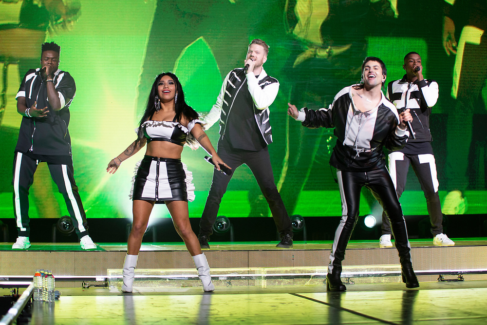 Pentatonix performing at the Fiserv Forum in Milwaukee, WI on June 18, 2019.