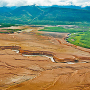 Valley of 10,000 Smokes and the River Lethe in Katmai National Park, Alaska.