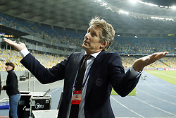 Ajax general director Edwin van der Sar during the UEFA Champions League play offs round second leg match between Dynamo Kyiv and Ajax Amsterdam at the NSK Olimpiyskyi on August 28, 2018 in Kyiv, Ukraine