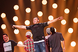 22.05.2015, Stadthalle, Wien, AUT, Eurovision Songcontest Vienna 2015, Kostümprobe für das Große Finale, im Bild Nadav Guedj aus Israel // Nadav Guedj from Israel during dress rehearsal of the grand final for Eurivision Songcontest Vienna 2015 at Stadthalle in Vienna, Austria on 2015/05/22, EXPA Pictures © 2015, PhotoCredit: EXPA/ Michael Gruber