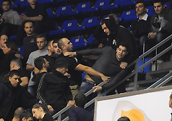 Supporters of Partizan during basketball match between KK Partizan Beograd and KK Union Olimpija Ljubljana in Round #5 of ABA League 2016/17, on October 16, 2016 in Beograd, Serbia. Photo by Nebojsa Parausic / Sportida