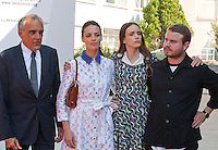 Alberto Barbera, Berenice Bejo, Stacy Martin and Director Brady Corbet at the gala screening for the film The Childhood of a Leader at the 72nd Venice Film Festival, Saturday September 5th 2015, Venice Lido, Italy.