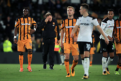Hull City manager Leonid Slutsky (second left) is dejected after the final whistle