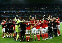 Wales celebrating the victory. esultanza vittoria<br /> Lille 01-07-2016 Stade Pierre Mauroy Football Euro2016 Wales - Belgium / Galles - Belgio <br /> Quarter-finals. Foto Matteo Ciambelli / Insidefoto