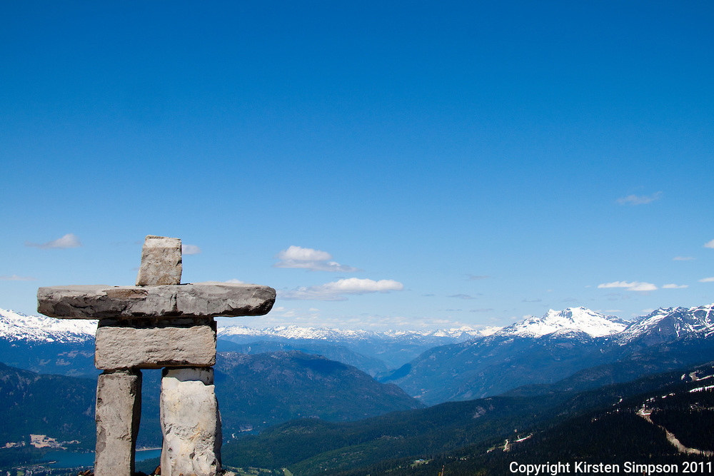 The Inukshuk at the top of Whistler Mountian
