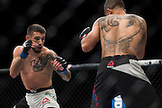 LAS VEGAS, NV - JULY 8:  Matheus Nicolau fights against John Moraga during The Ultimate Fighter Finale at MGM Grand Garden Arena on July 8, 2016 in Las Vegas, Nevada. (Photo by Cooper Neill/Zuffa LLC/Zuffa LLC via Getty Images) *** Local Caption *** Matheus Nicolau
