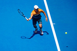 January 12, 2019 - Melbourne, VIC, U.S. - MELBOURNE, VIC - JANUARY 12: KEI NISHIKORI (JPN) during practice day of the 2019 Australian Open on January 12, 2019 at Melbourne Park Tennis Centre Melbourne, Australia (Photo by Chaz Niell/Icon Sportswire) (Credit Image: © Chaz Niell/Icon SMI via ZUMA Press)