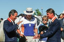 Voorn Albert (NED), HRH Prince Willem Alexander, Dubbeldam Jeroen (NED)<br /> Olympic Games Sydney 2000<br /> © Dirk Caremans
