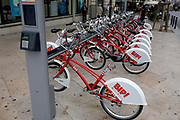 Cycles for rent, automatic dispenser, Perpignan,  France
