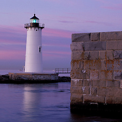 Fort Constitution, state historic site. Portsmouth Harbor Lighthouse.  New Castle, NH