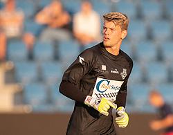 Christoffer Petersen (FC Helsingør) under træningskampen mellem FC Helsingør og Næstved Boldklub den 19. august 2020 på Helsingør Stadion (Foto: Claus Birch).