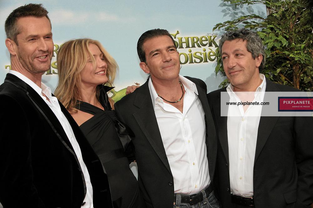 Cameron Diaz - Antonio Banderas - Alain Chabat - Avant Première à Paris du troisième volet de Shrek - 7/6/2007 - JSB / PixPlanete