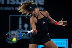 January 1, 2019 - Brisbane, AUSTRALIA - NAOMI OSAKA of Japan in action against D. Aiava of Australia during her second-round match at the 2019 Brisbane International WTA Premier tennis tournament. Osaka won 6:3, 6:2.  (Credit Image: © AFP7 via ZUMA Wire)